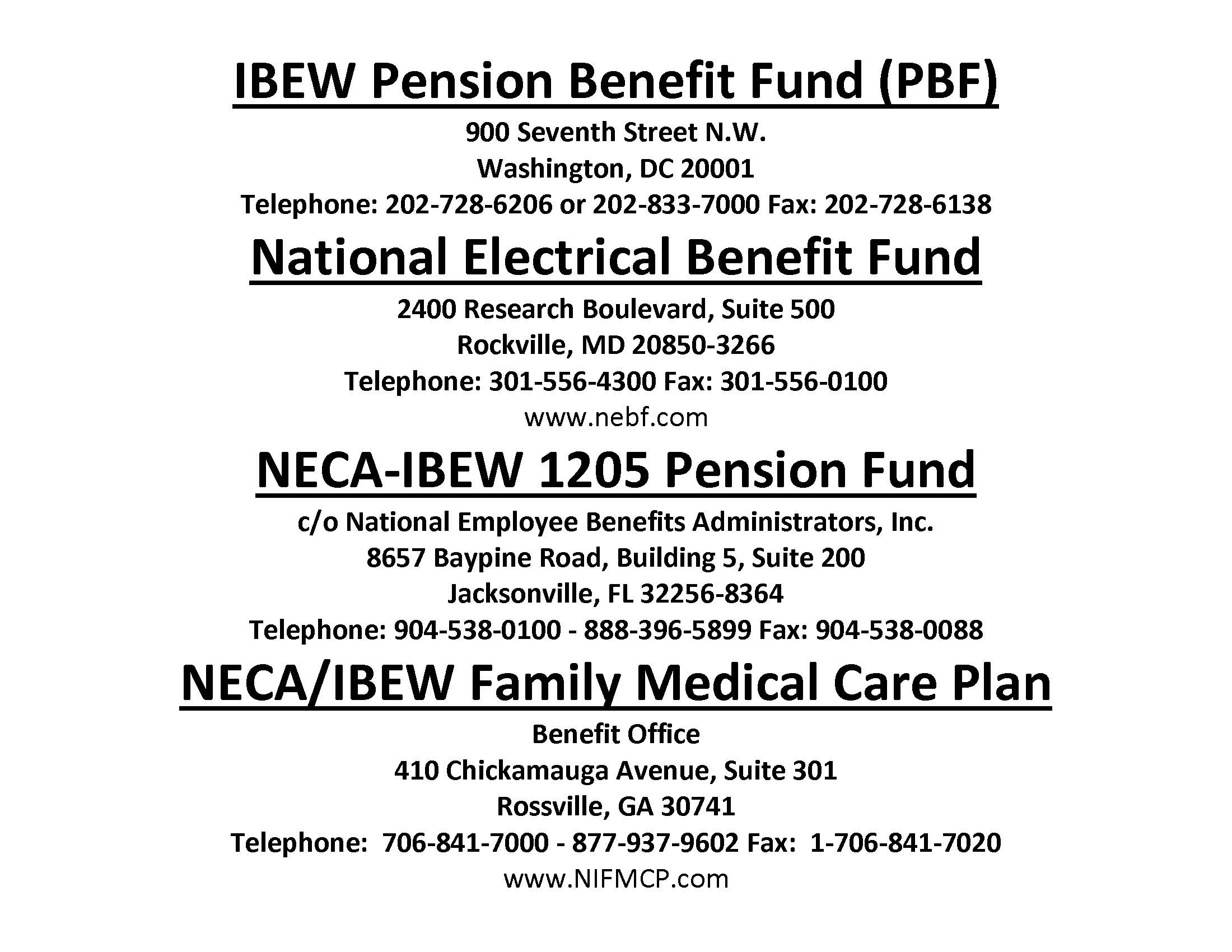 Ibew local 1205 national electrical benefit fund nebf aiddatafo Images